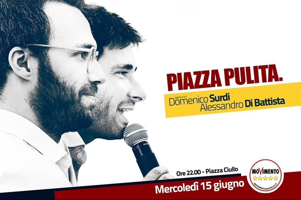 Alessandro Di Battista torna ad Alcamo. Mercoledì in Piazza Ciullo per Surdi