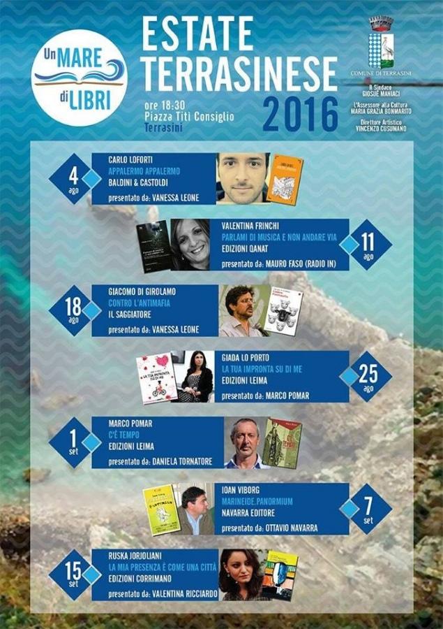 «Un Mare di Libri» a Terrasini. Rassegna di incontri con autori