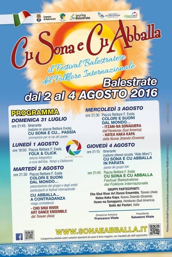 Cu Sona e Cu Abballa: il programma. Da domenica il Festival del Folklore
