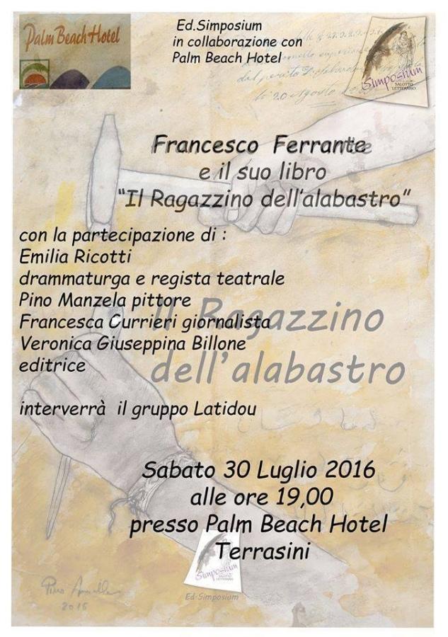 Il Ragazzino dell'alabastro di Ferrante. Sabato la presentazione a Cinisi