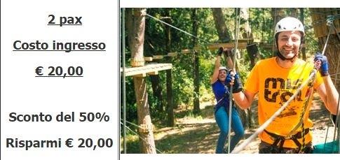 Promozione al Parco Avventura di Alcamo. Sconti del 50% entro il quattro agosto
